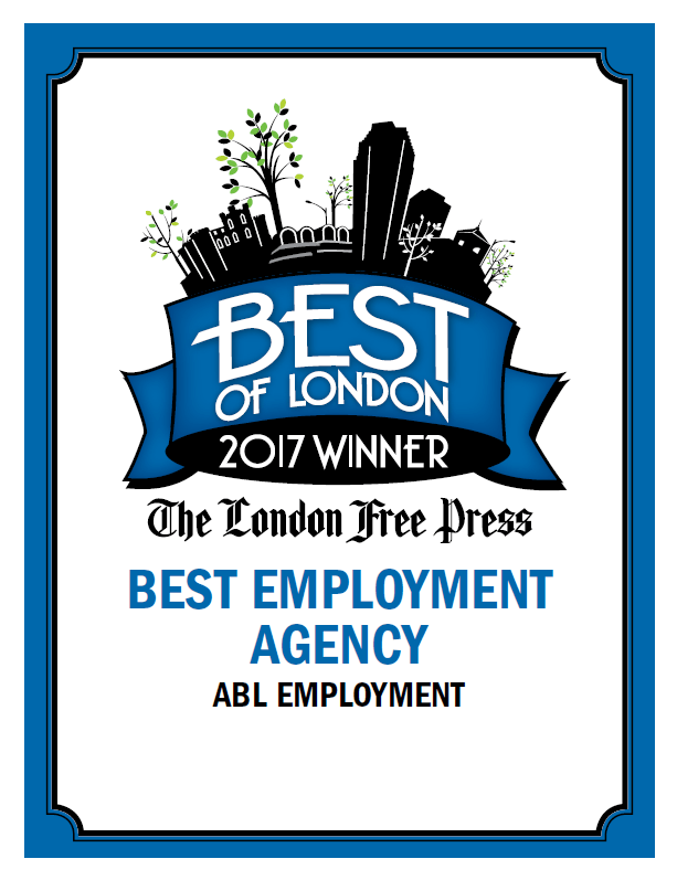 """London ABL Office Honoured as """"Best Employment Agency"""""""