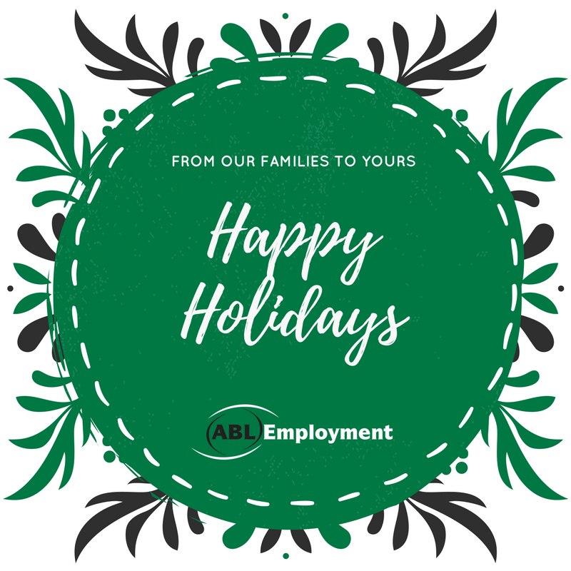 Happy Holidays from ABL Employment