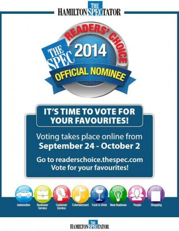 Readers Choice invitation to vote for your favourite nominees in 2014