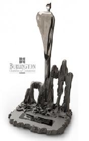 Trophy for Burlington Business Excellence Award
