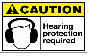 warning sign for hearing protection required