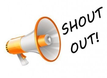 "megaphone illustration and text that says ""Shout out!"""