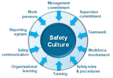 infographic about safety culture factors