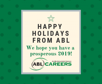 Happy Holiday card from ABL Careers