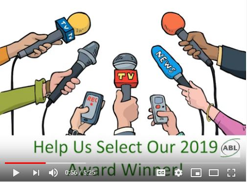 screenshot from youtube video of our 2019 Award Winner montage