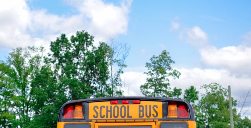 COVID-19 Safety for Back to School on Yellow School Bus