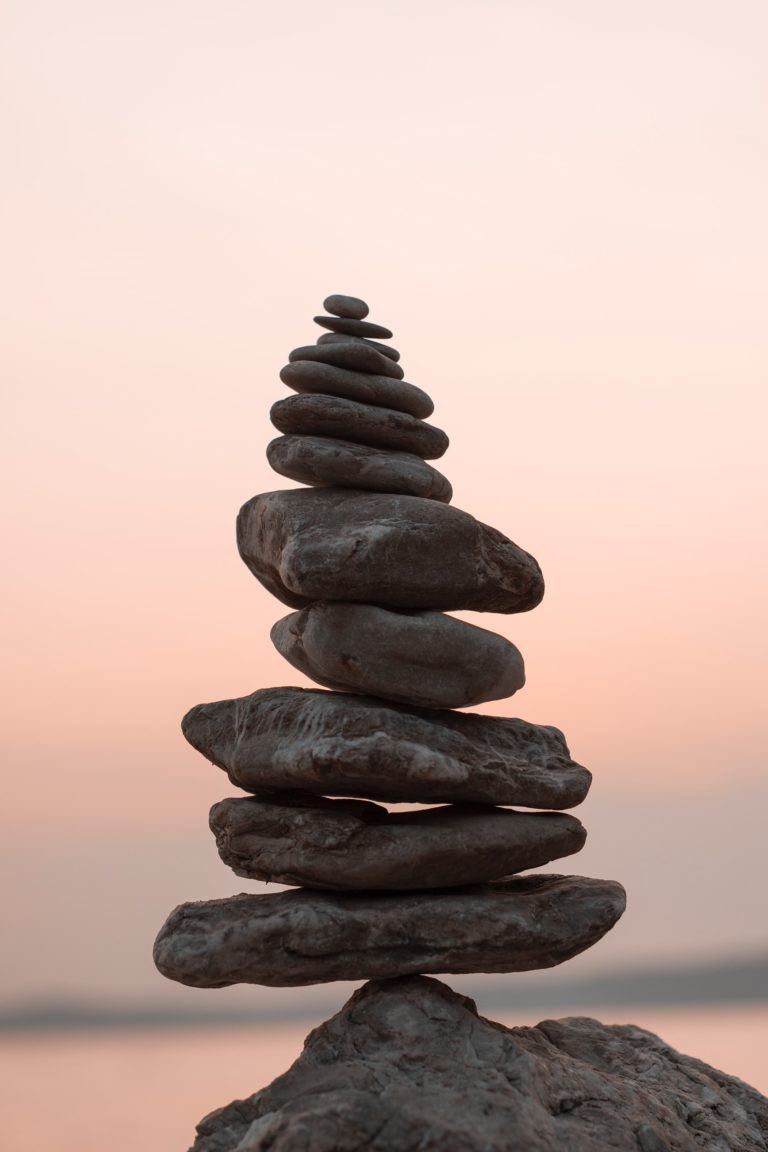 stack of stones balancing on each other