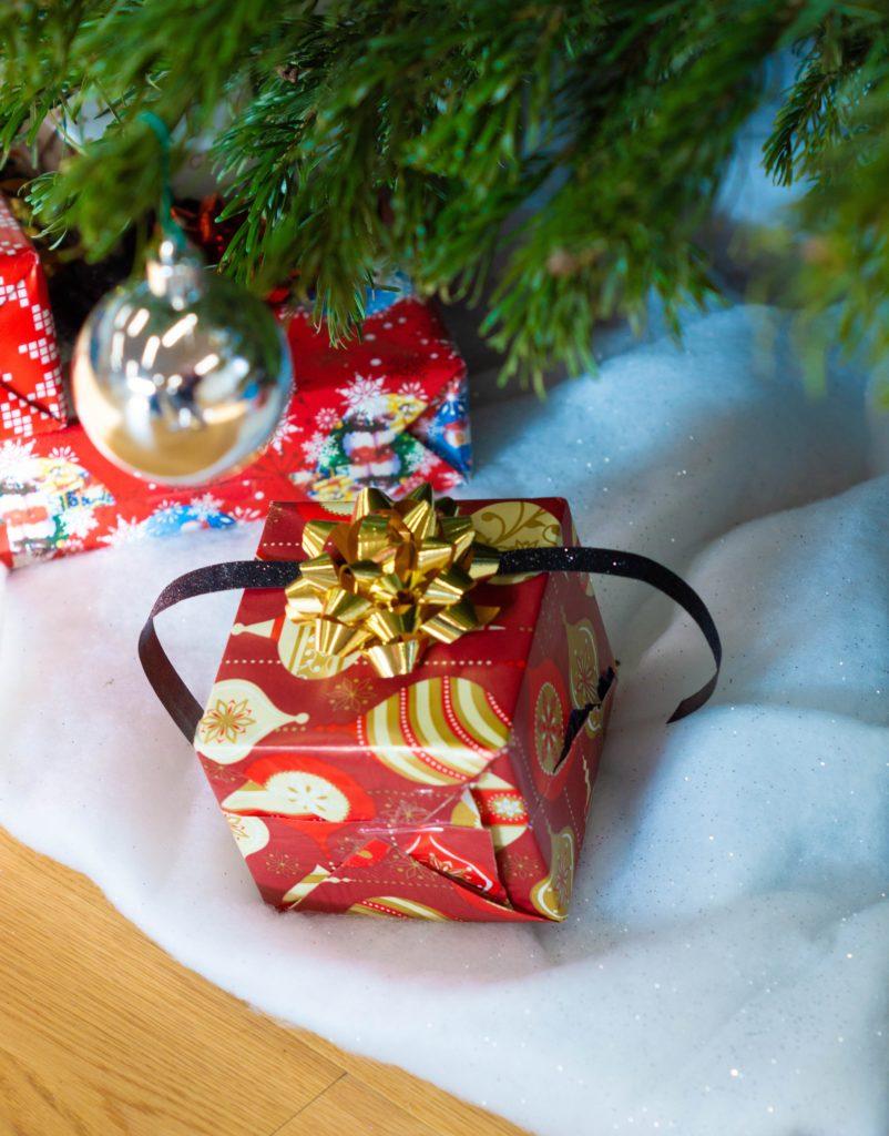 xmas gift under the tree