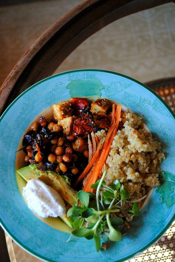 Colourful, nutritious food